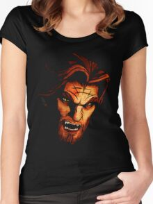 Big Bad Wolf Women's Fitted Scoop T-Shirt
