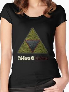 Tri-Force Of Darkness Women's Fitted Scoop T-Shirt
