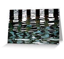 harbour reflection Greeting Card