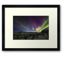 Yukon Northern Lights 3 Framed Print