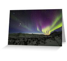 Yukon Northern Lights 3 Greeting Card