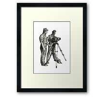 Travel and adventure with a camera. Framed Print