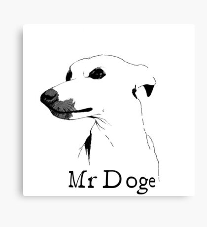 Mr Doge Canvas Print