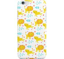 Lion and Lioness Love Heart iPhone Case/Skin