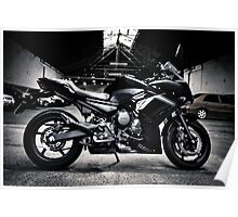 Yamaha Diversion F profile view BW Poster