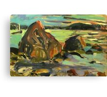 Maine Rocks Canvas Print