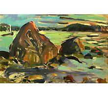 Maine Rocks Photographic Print