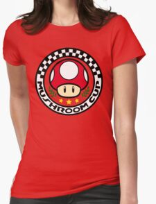 Mushroom Cup Womens Fitted T-Shirt