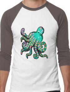 Funky Octopus Men's Baseball ¾ T-Shirt