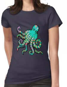 Funky Octopus Womens Fitted T-Shirt