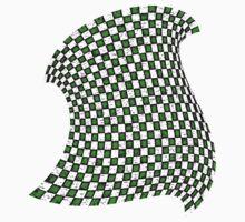 Random Checkered Pattern - GREEN One Piece - Long Sleeve
