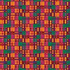 Modern Tribal Trip Tile Pattern iPhone &amp; iPod Case Covers by webgrrl