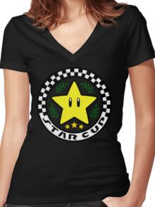 Star Cup Women's Fitted V-Neck T-Shirt