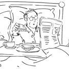 Breakfast in bed cartoon by MikeJory