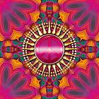 Pink Orange : Groovy Peace Sun iPhone / iPod Cases by webgrrl