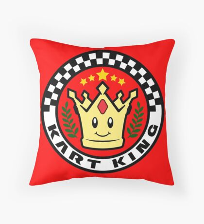 Kart King Throw Pillow