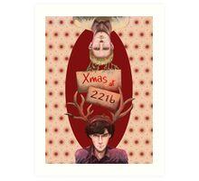 Merry Xmas from 221b Art Print