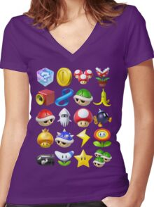 Item Surprise Women's Fitted V-Neck T-Shirt