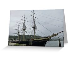 Old Whaler - Mystic Seaport, CT Greeting Card