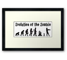 Evolution Of the Zombie Funny T Shirt Framed Print