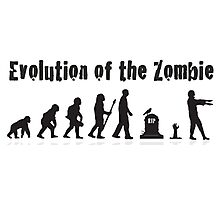 Evolution Of the Zombie Funny T Shirt Photographic Print