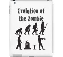 Evolution Of the Zombie Funny T Shirt iPad Case/Skin