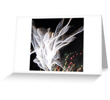 Firework Shawl Greeting Card