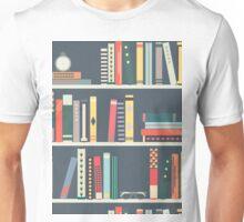 SMART PATTERN BOOKS ON SHELF Unisex T-Shirt