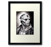 Thane Portrait in Charcoal - Print Framed Print