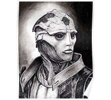 Thane Portrait in Charcoal - Print Poster