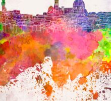 Florence skyline in watercolor background Sticker