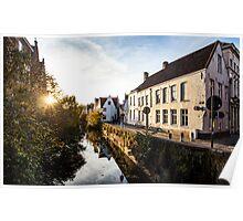 Lake in Bruges Poster