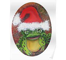 Frog Santa Poster
