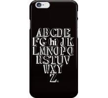Alphabet Hi - White iPhone Case/Skin