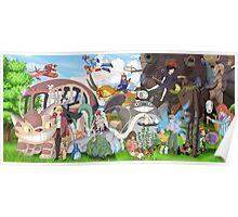 Studo Ghibli Family Poster