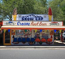 Route 66 - Snow Cap Drive-In by Frank Romeo