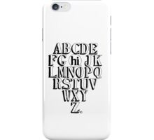 Alphabet Hi  - Black iPhone Case/Skin