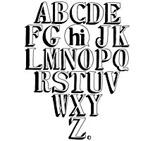 Alphabet Hi  - Black Photographic Print