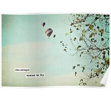 she always wanted to fly Poster