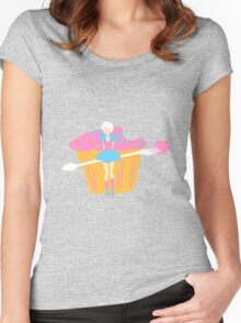 Cupcake Girl! Women's Fitted Scoop T-Shirt
