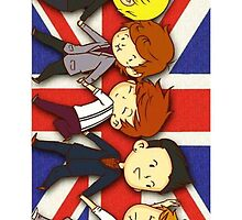 One Direction Union Jack Flag by ViviG