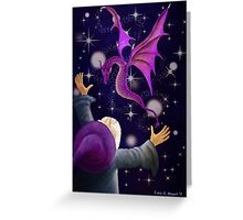 The Wizard and his Dragon Greeting Card