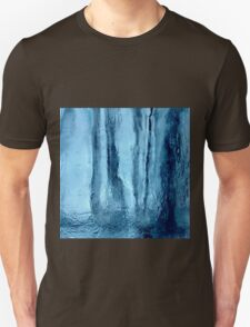 Icy cool blue abstract design Unisex T-Shirt
