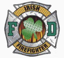 Malteese Cross IRISH Firefigter by thatstickerguy