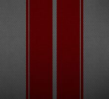 Red Racing Stripes on Leather design iPhone/iPod case by Haz Preena