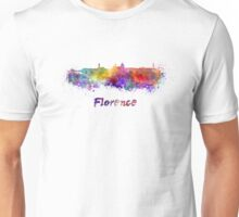 Florence skyline in watercolor Unisex T-Shirt