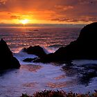 Sunset on the Oregon Coast by DArthurBrown