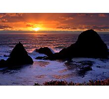 Sunset on the Oregon Coast Photographic Print