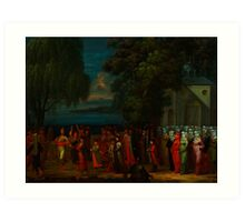 A celebration gathering during Ottoman Empire Art Print