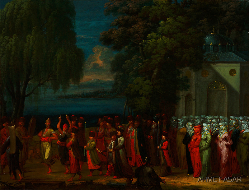 A celebration gathering during Ottoman Empire by Adam Asar